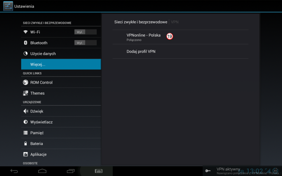 Android Tablet PPTP VPN