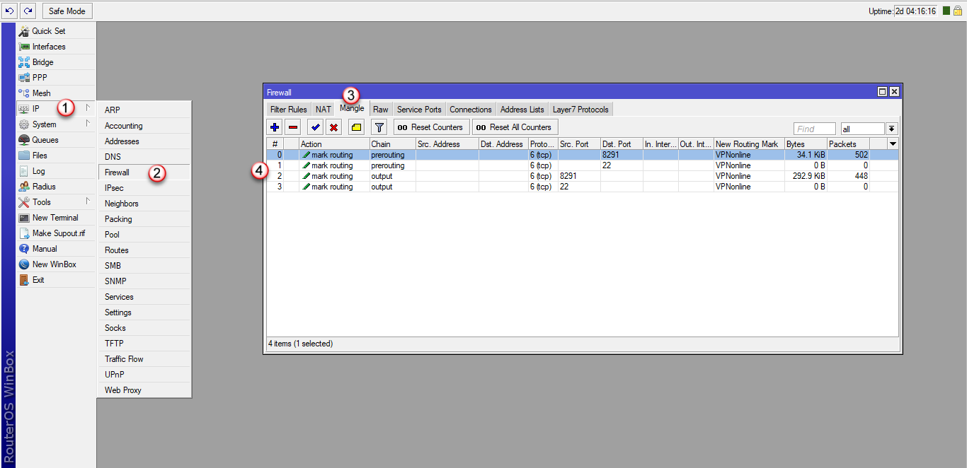 Konfiguracja klienta VPN - Router Mikrotk