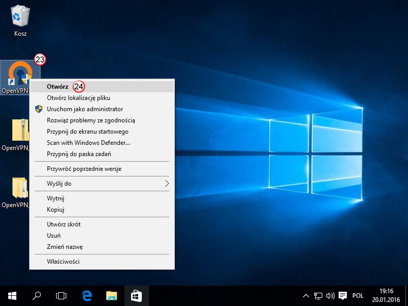 Windows 10 OpenVPN