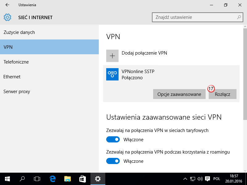 Windows 10 SSTP VPN